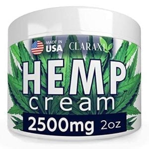 Claraxi 2500mg Hemp Extract Pain Relief Cream Natural Ointment