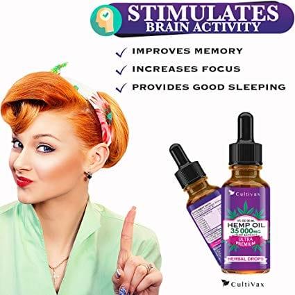Ultra Premium Hemp Oil 35000 mg Herbal Drops 30ml Best Seller Lady