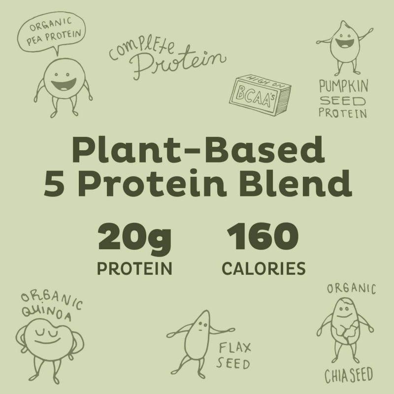 plant based KOS Vanilla Organic Plant Based Raw Vegan Protein Powder