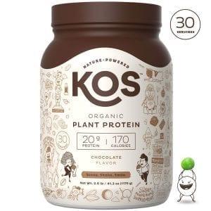 KOS Chocolate Organic Plant Based Raw Vegan Protein Powder