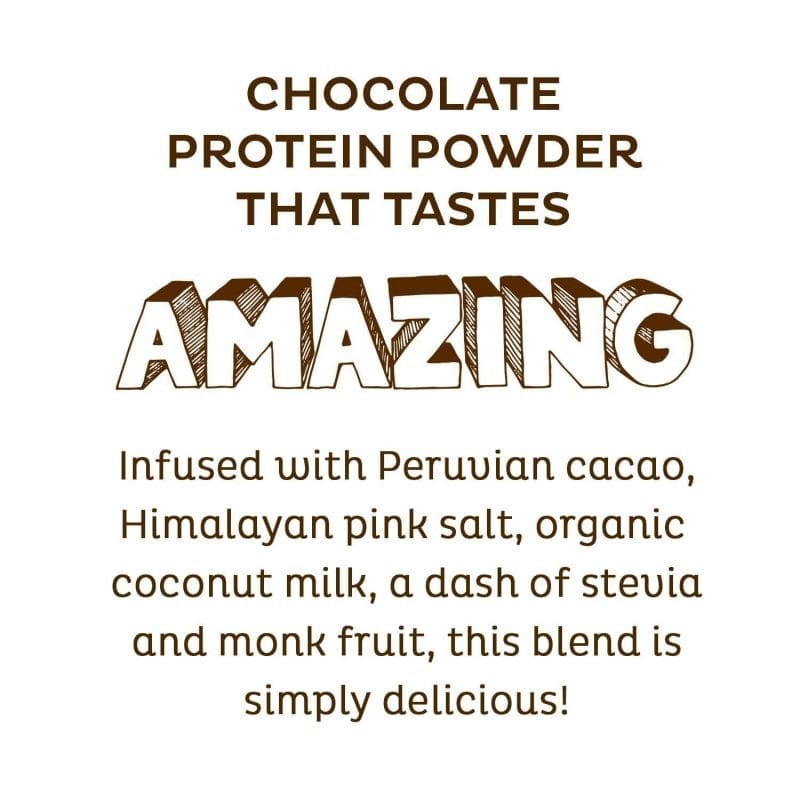 Amazing KOS Chocolate Organic Plant Based Raw Vegan Protein Powder