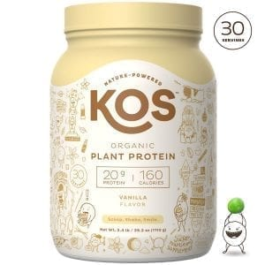 KOS Vanilla Organic Plant Based Raw Vegan Protein Powder