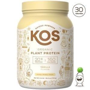 KOS Vanilla Organic Plant Based Raw Vegan Protein Powder