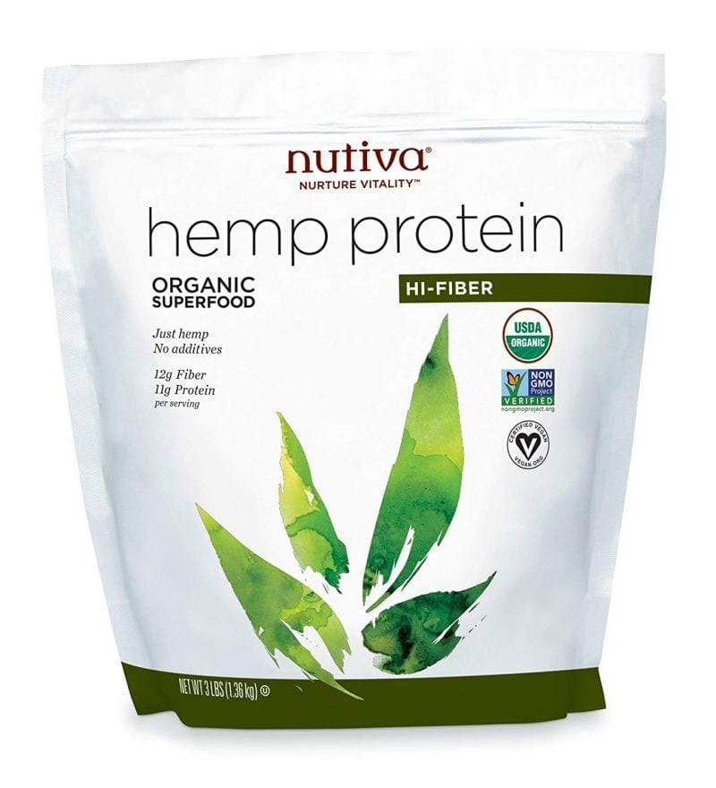 Nutiva Organic Cold Processed Hemp Seed Protein Hi-Fiber 3lb