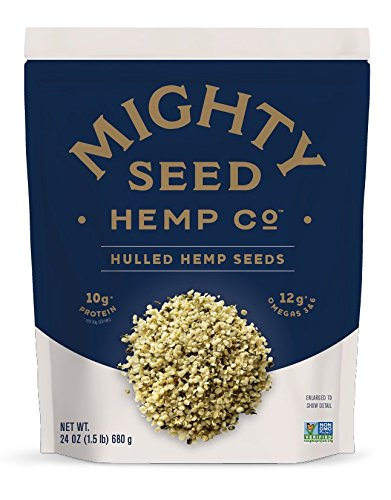 Mighty Seed Non GMO Hemp Hulled Seeds Vegan Friendly 24 Ounce