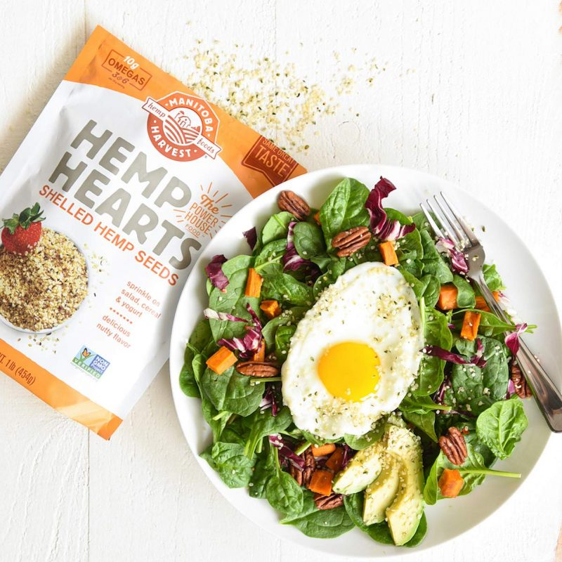 Manitoba Harvest Hemp Hearts Raw Shelled Hemp Seeds Salad