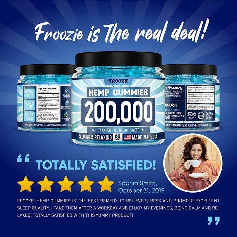 Froozie 200,000 MG Natural Anxiety Stress Relief Premium Hemp satisfied