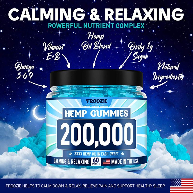 Froozie 200,000 MG Natural Anxiety Stress Relief Premium Hemp relaxing